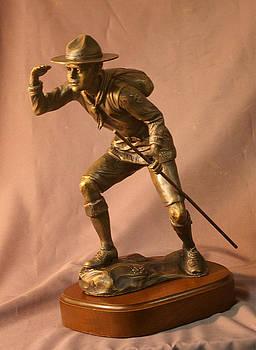 Boy Scout bronze sculpture by Stan Watts by Stan Watts