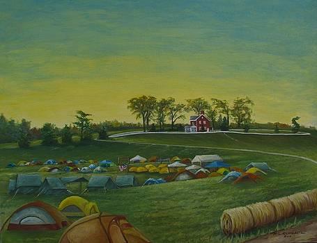 Boy Scout Camporee at Taylor's Farm by Richard Klingbeil