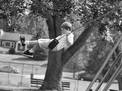 Boy Swinging by Jennifer Whiteford