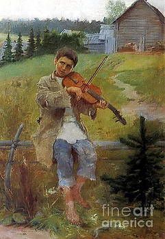 Nikolay Petrovich-Belsky - Boy With A Violin