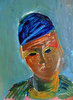 Boy With Blue Cap by Joe Scoppa