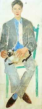 Wood Christopher - Boy With Cat Portrait Of Fr Jean Bougoint 1926