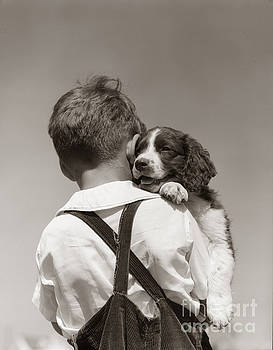 H Armstrong Roberts ClassicStock - Boy With Puppy, C.1930-40s