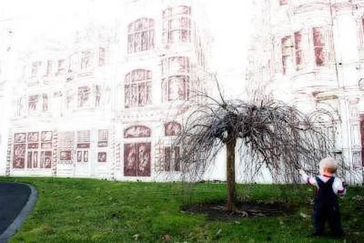 Boy With Tree by Misty Alger