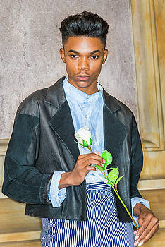 Alexander Image - Boy with white rose 15042618