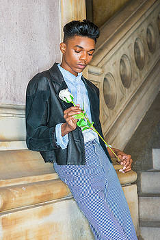 Boy with white rose 15042622 by Alexander Image