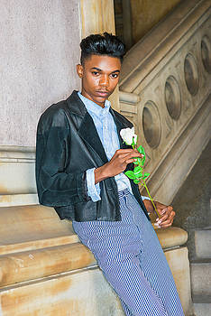 Alexander Image - Boy with white rose 15042623