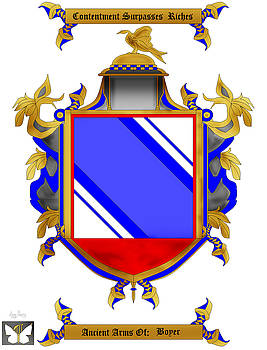 Boyer Family Crest by Anne Norskog