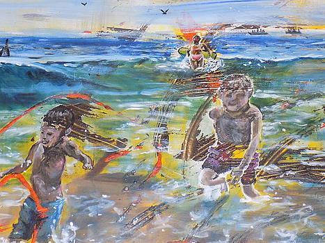 Boys at the Beach by Tara Stephanos