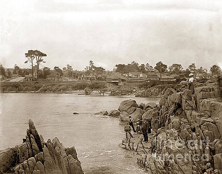 California Views Mr Pat Hathaway Archives - Boys fishing at Lovers Point, Pacific Grove 1912