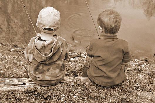 Boys Fishing by Shawn Wood