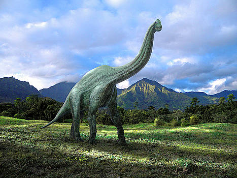 Frank Wilson - Brachiosaurus In Meadow