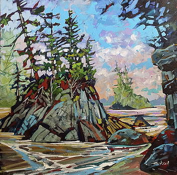 Bradey Beach Rocks  by Brian Buckrell
