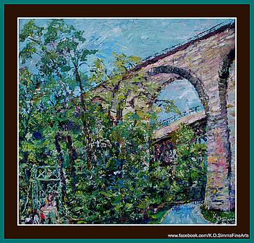 Brandywine Swinging Bridge by Keith OBrien Simms