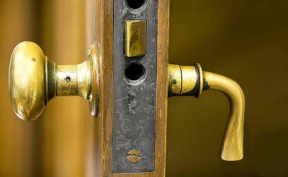 Brass Door Handle by Lorna Rande