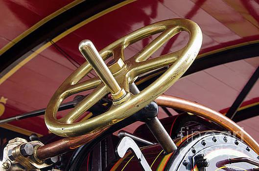 Brass steering wheel by Steev Stamford