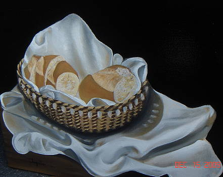 Bread In Basket by Erick Charpentier