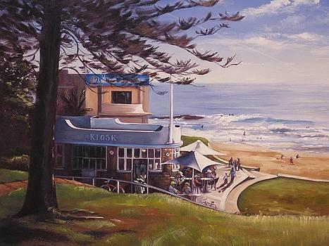 Breakfast At The Beach by Kathy  Karas