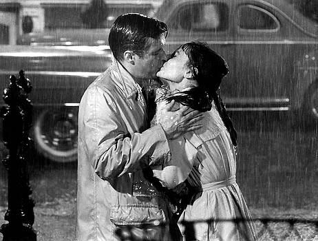 BREAKFAST AT TIFFANYS Audrey Hepburn and George Peppard by R Muirhead Art