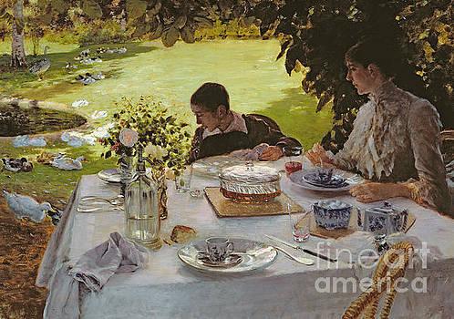 Giuseppe Nittis - Breakfast in the Garden, 1883