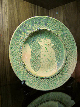 Breakfast Serving Plate by Orla Cahill
