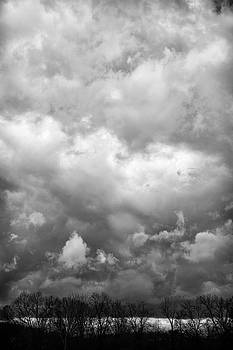 Breaking Skies Black and White by Steve Konya II