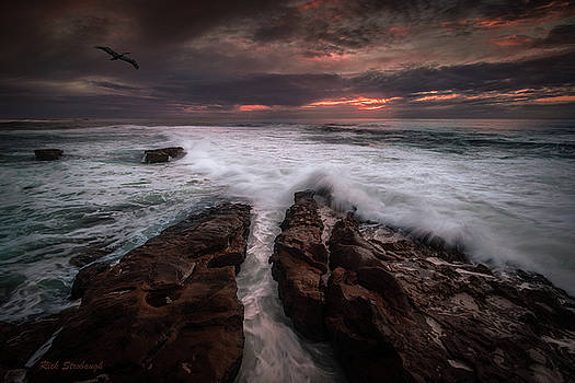 Rick Strobaugh - Breaking Waves, signed