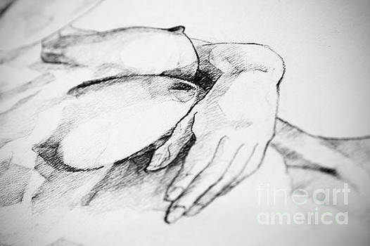 Dimitar Hristov - Breast and Hands Art Drawing