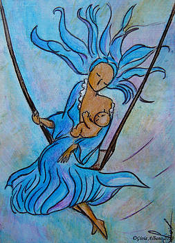 Breastfeeding everywhere Breastfeeding on a swing by Gioia Albano