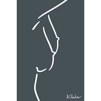 Breasts Of A Standing Female Nude By by Alexander Chubar