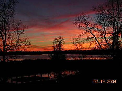Breathtaking view of Cooper River Sunset by Lee Ann Wunderler