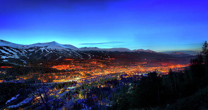 Breckenridge CO at Night by James O Thompson