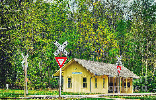 Brecksville Train Depot by Rachel Barrett