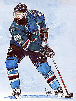 Brent Burns by Dave Olsen