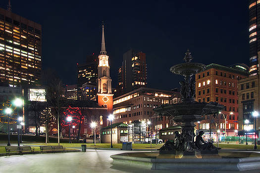 Joann Vitali - Brewer Fountain and Park Street Church - Boston Common