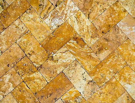 TONY GRIDER - Brick Abstract Diagonals Print - 03