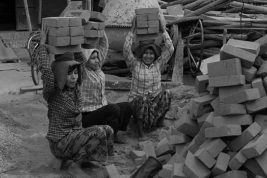 Burmese Brick Carriers by Timothy Leonard