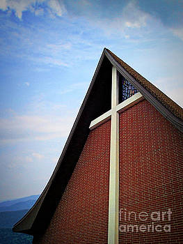 Brick Church, Blue Sky by Jenness Asby