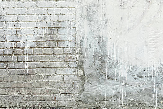 Brick Texture White Paint Dripping Grunge Background by James BO InsognaBricks - Texture and White Paint Dripping Grunge Background