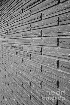 Brick Wall 1 in black and white by E B Schmidt