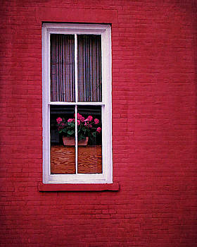 Brick Wall and Window by Cathy Kovarik