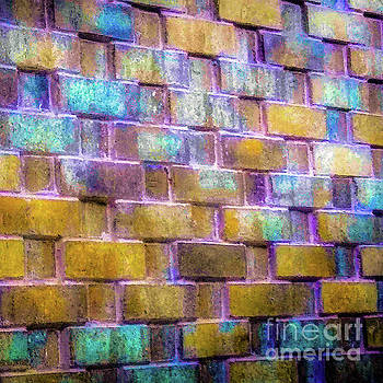 Brick Wall in Abstract 499 S by D Davila