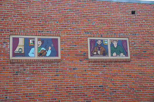 Brick Wall Street Art by Robert Braley