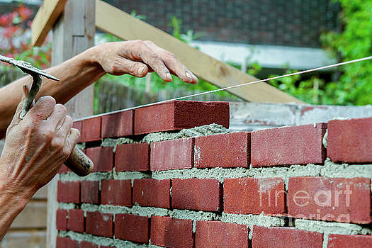 Patricia Hofmeester - Bricklayer with trowel