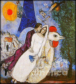 Marc Chagall - Bridal Couple