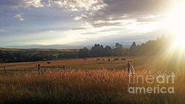 Bride and Groom in Montana by Matt Tilghman