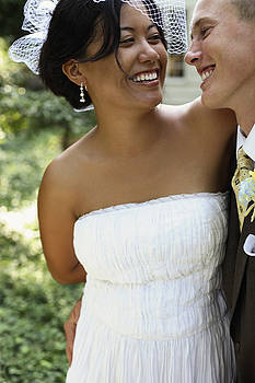 Bride And Groom Outside At Wedding by Gillham Studios