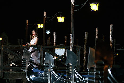 Bride in Venice by Cristian Mihaila