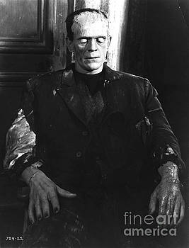 R Muirhead Art - Bride of Frankenstein Boris Karloff