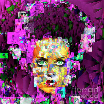 Wingsdomain Art and Photography - Bride of Frankenstein in Abstract Cubism 20170407